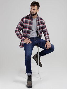 Camisa-Xadrez-VilleJack-Manga-Longa-Masculina-Azul