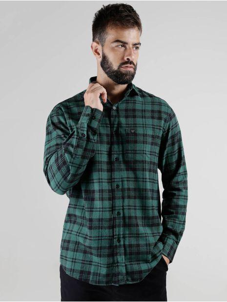 Camisa-Xadrez-VilleJack-Manga-Longa-Masculina-Verde