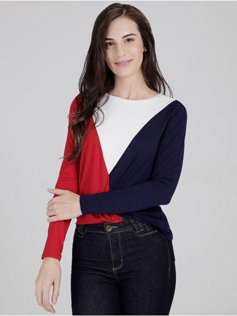 Blusa-Tricolor-Manga-Longa-Lunender-Feminina-Vermelho