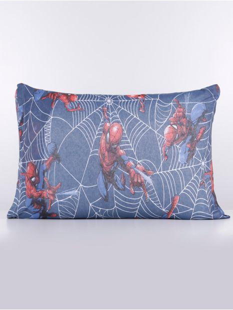 143885-jogo-lencol-solteiro-simples-spider-man-azul-cinza