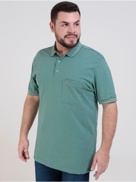 Polo-Manga-Curta-Vilejack-Plus-Size-Masculina-Verde