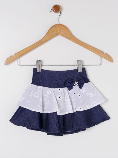 Saia-Jeans-Infantil-Para-Menina---Azul