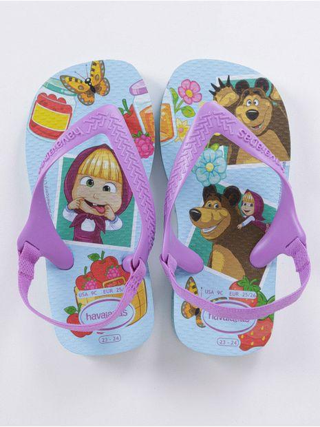 Sandalia-Havaianas-Masha-e-o-Urso-Infantil-Para-Bebe-Menina-Azul