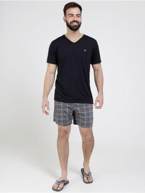 Pijama-Curto-Masculino-Preto-M