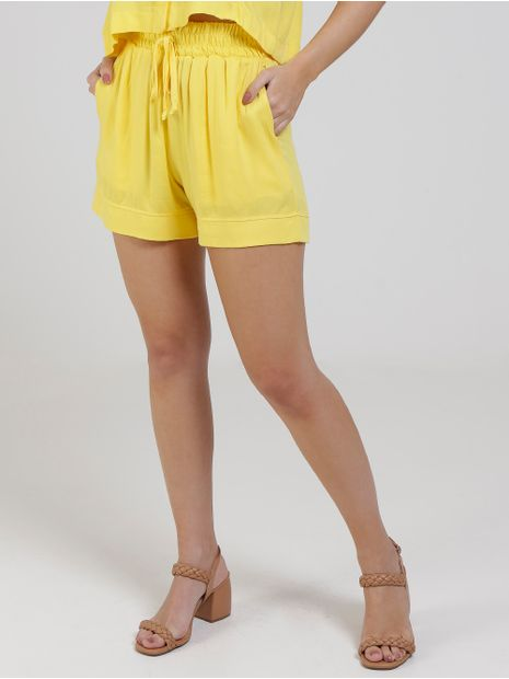 Short-de-Tecido-Feminino-Amarelo