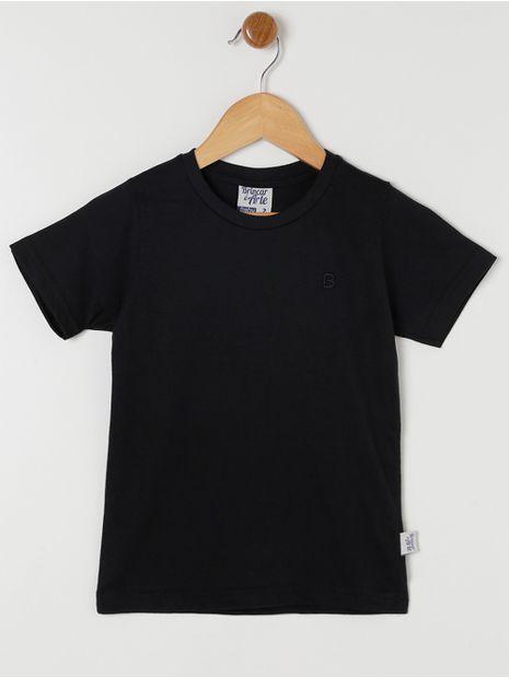 Camiseta-Manga-Curta-Basica-Infantil-Para-Menino---Preto