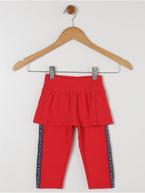Calca-Legging-com-Saia-Infantil-Para-Menina---Vermelho