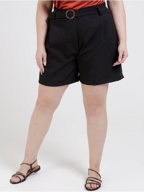 Short-de-Tecido-com-Cinto-Plus-Size-Feminino-Preto