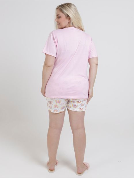 Pijama-Curto-Plus-Size-Feminino-Rosa-Claro
